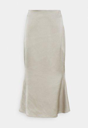 A LINE SLIP MIDI SKIRT - A-line skirt - sage