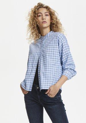 Button-down blouse - palace blue
