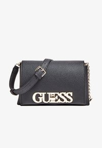 Guess - UPTOWN CHIC MINI XBODY FLAP - Sac bandoulière - black - 1