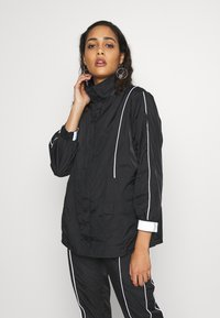 Missguided - CODE CREATE JACKET WITH REFLECTIVE PIPING - Bomber Jacket - black - 0