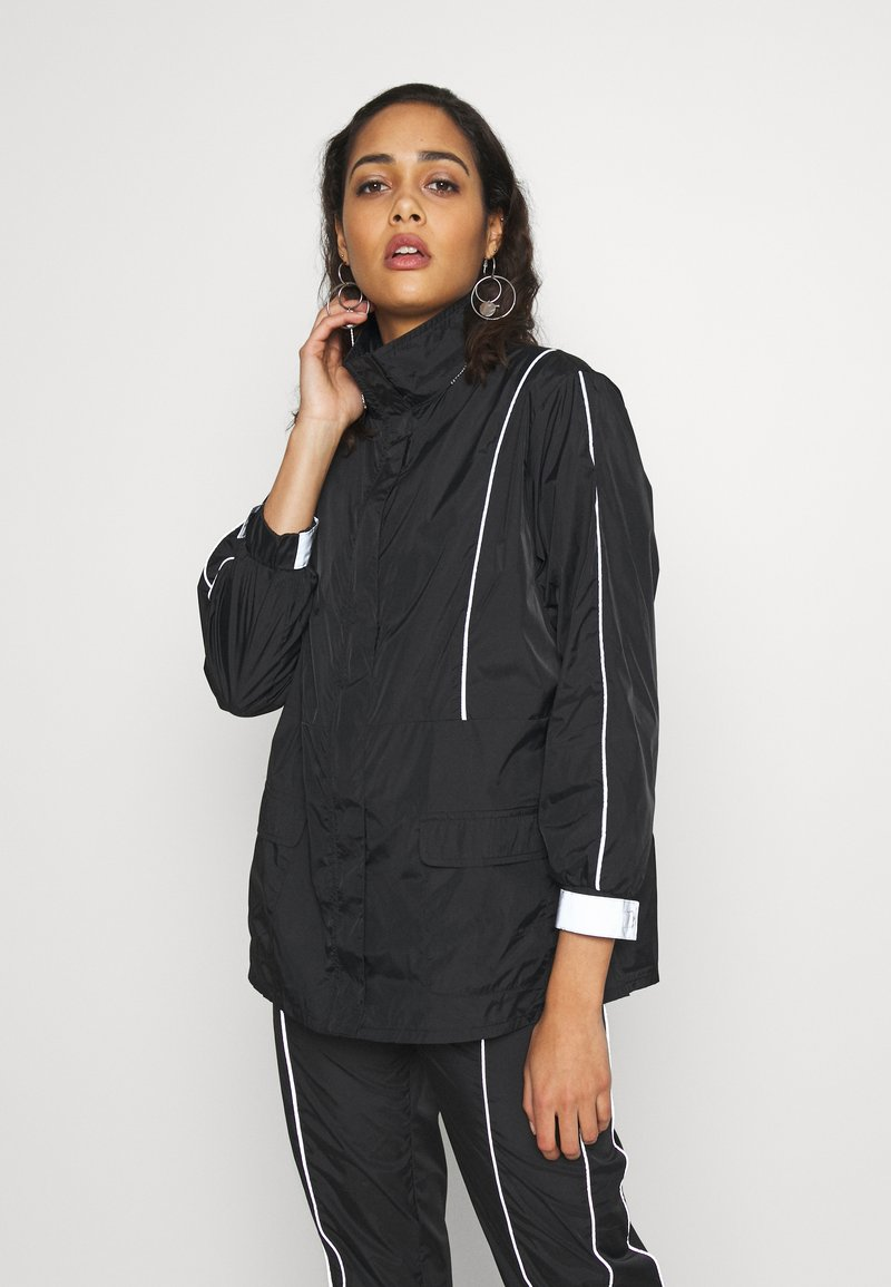 Missguided - CODE CREATE JACKET WITH REFLECTIVE PIPING - Bomber Jacket - black