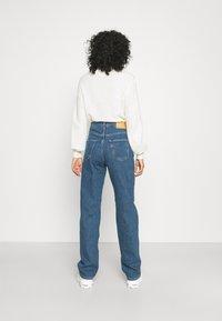 Selected Femme - SLFBLAIR LONG - Relaxed fit jeans - dark blue denim - 2