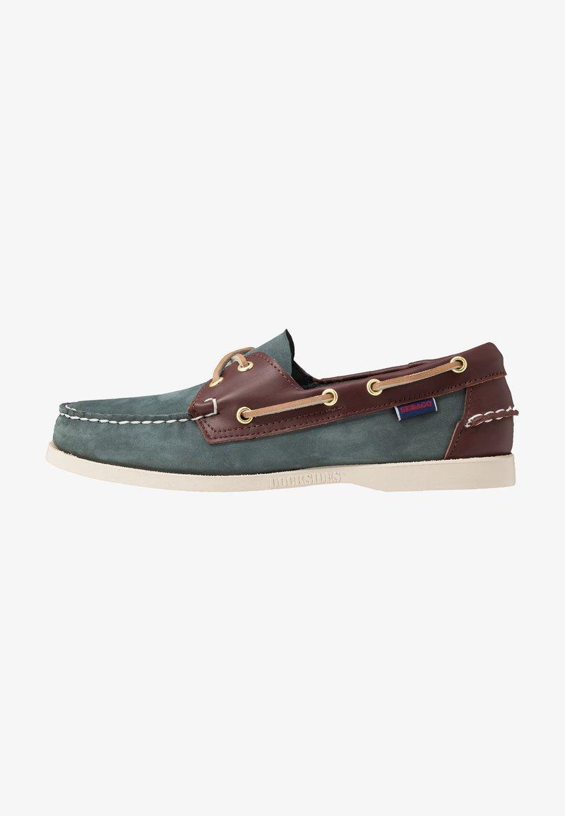 Sebago - DOCKSIDES PORTLAND SPINNAKER  - Boat shoes - blue navy/dark brown