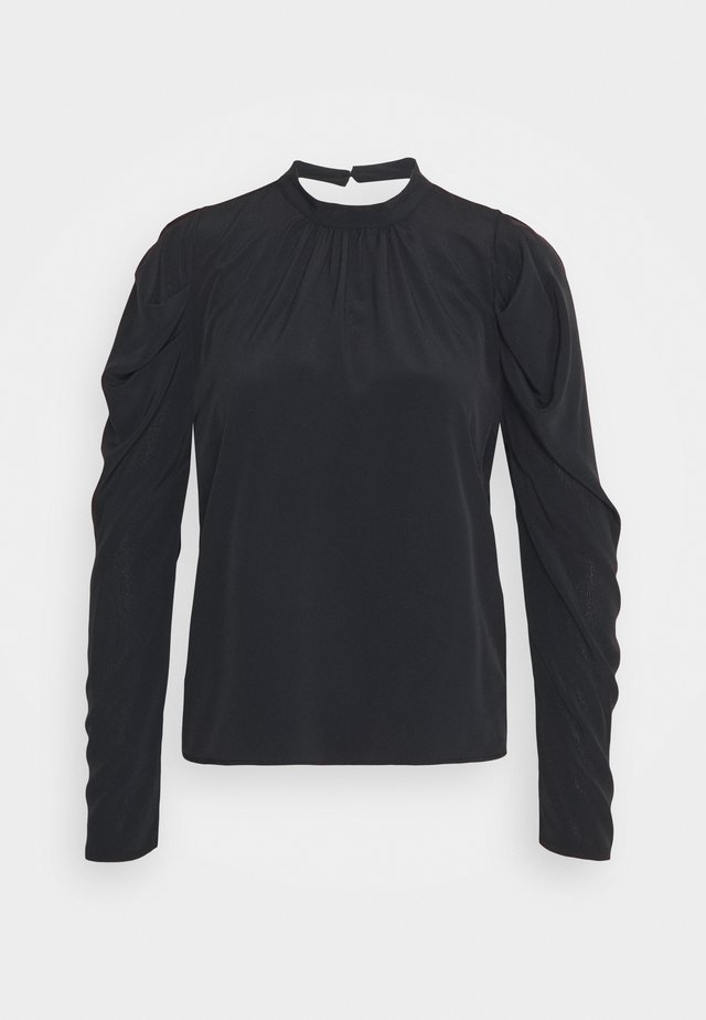 MUTTON SLEEVE BLOUSE - Camicetta - black