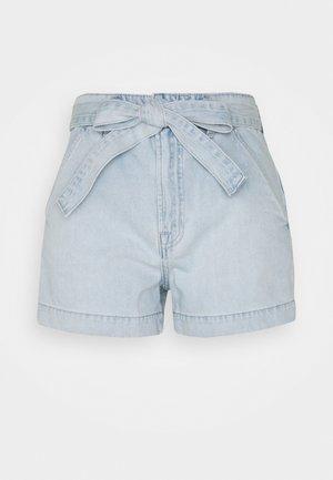BRISTOL TIE WAIST - Denim shorts - light bristol