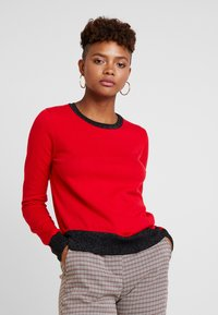 Scotch & Soda - BASIC - Strikkegenser - mars red - 0