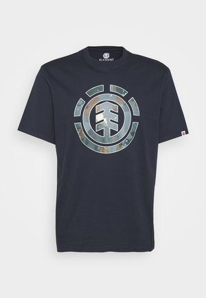 WATER CAMO ICON FILL - Print T-shirt - eclipse navy