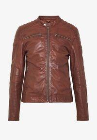 Goosecraft - Veste en cuir - rodeo brown - 5