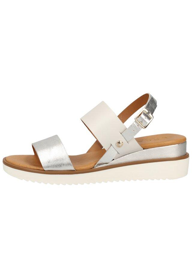 SCAPA SANDALEN - Korkeakorkoiset sandaalit - argento 830