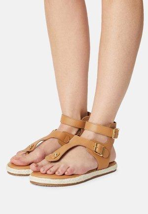YASRAFFA - T-bar sandals - biscuit