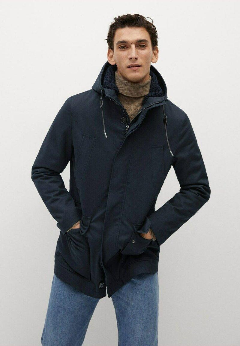 Mango - BRANKA - Winter coat - bleu marine foncé