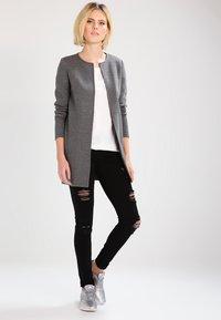 Vila - VINAJA NEW LONG JACKET - Summer jacket - medium grey melange - 1
