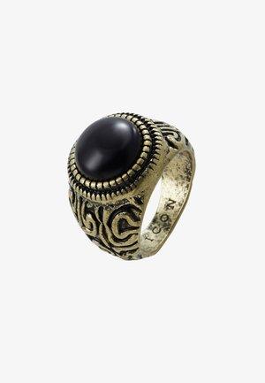 ELABORATE ROUND SIGNET - Ring - gold-coloured