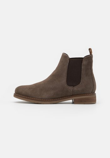 LEATHER - Ankle boots - brown