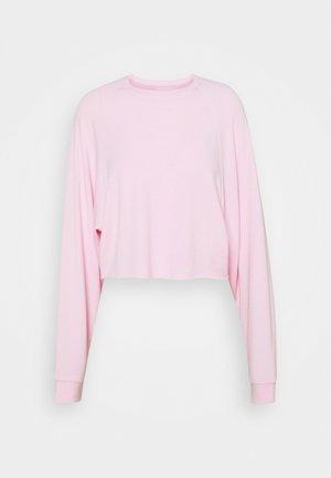BASIC - Raw hem - Sweatshirt - pink