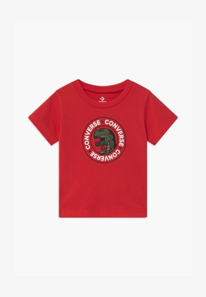 DINO WORDMARK TEE - T-shirt imprimé - university red