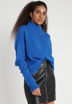 Oversize Turtleneck - Jumper - bright blue