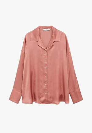 SATINI - Pyjama top - brent oransje