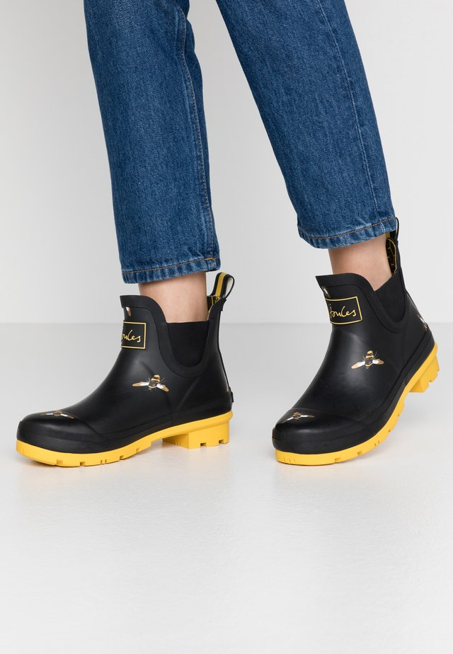 WELLIBOB - Gummistiefel - black/metallic