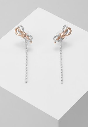 LIFELONG BOW - Earrings - rosegold-coloured/silver-coloured