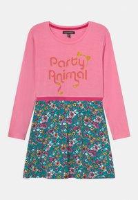 Lemon Beret - SMALL GIRLS DRESS - Jersey dress - sachet pink - 0