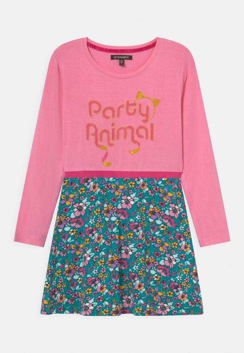 Lemon Beret - SMALL GIRLS DRESS - Jersey dress - sachet pink