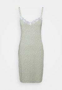 Lindex - NIGHT DRESS SLIP JOLO - Camicia da notte - dusty green - 0