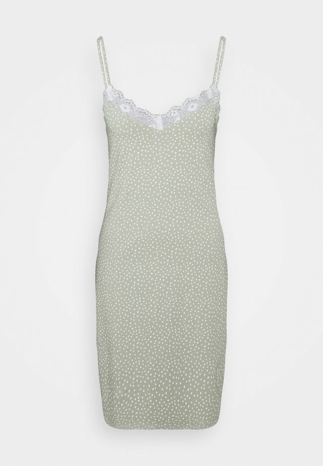 NIGHT DRESS SLIP JOLO - Negligé - dusty green
