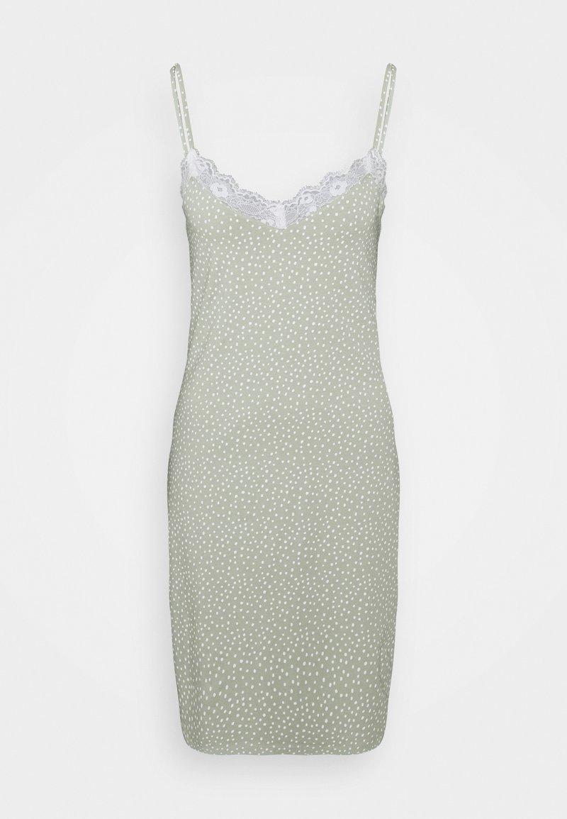 Lindex - NIGHT DRESS SLIP JOLO - Camicia da notte - dusty green