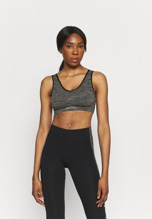 ONPMIRA SEAMLESS BRA - Sports-BH-er med medium støtte - black melange