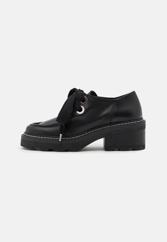 Lace-up heels - noir