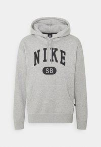 Nike SB - GRAPHIC HOODIE UNISEX - Sweatshirt - grey heather/black - 0