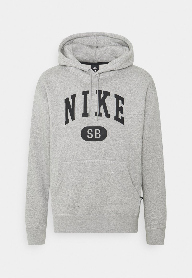 Nike SB - GRAPHIC HOODIE UNISEX - Sweatshirt - grey heather/black
