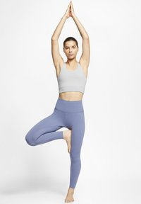 Nike Performance - THE YOGA LUXE CROP TANK - Top - particle grey/heather/platinum tint - 1