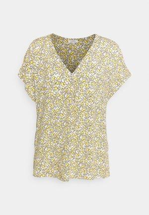 BLOUSE V NECK PRINTED - T-shirts print - mellow yellow