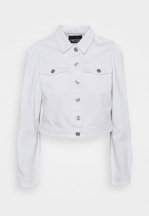 PCGREYSON JACKET - Jeansjakke - bright white
