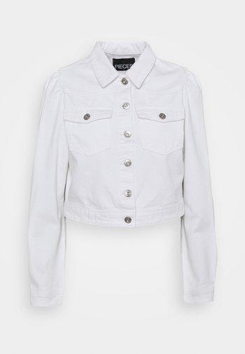 PCGREYSON JACKET - Denim jacket - bright white