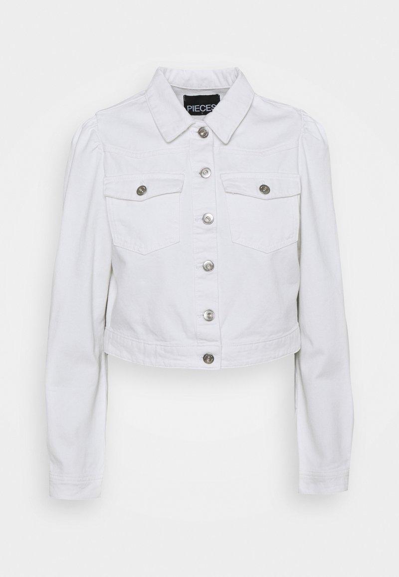 Pieces - PCGREYSON JACKET - Denim jacket - bright white