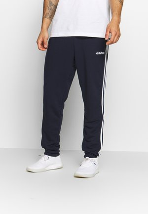 ESSENTIALS 3STRIPES FRENCH TERRY SPORT PANTS - Spodnie treningowe - navy