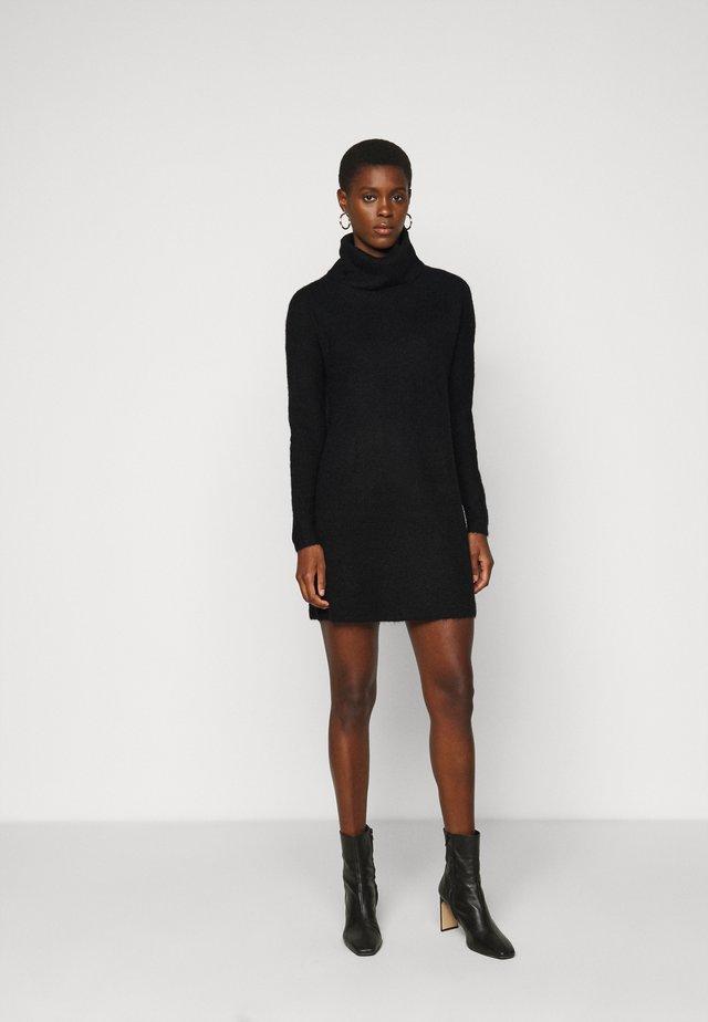 ONLJANA COWLNCK DRESS  - Gebreide jurk - black