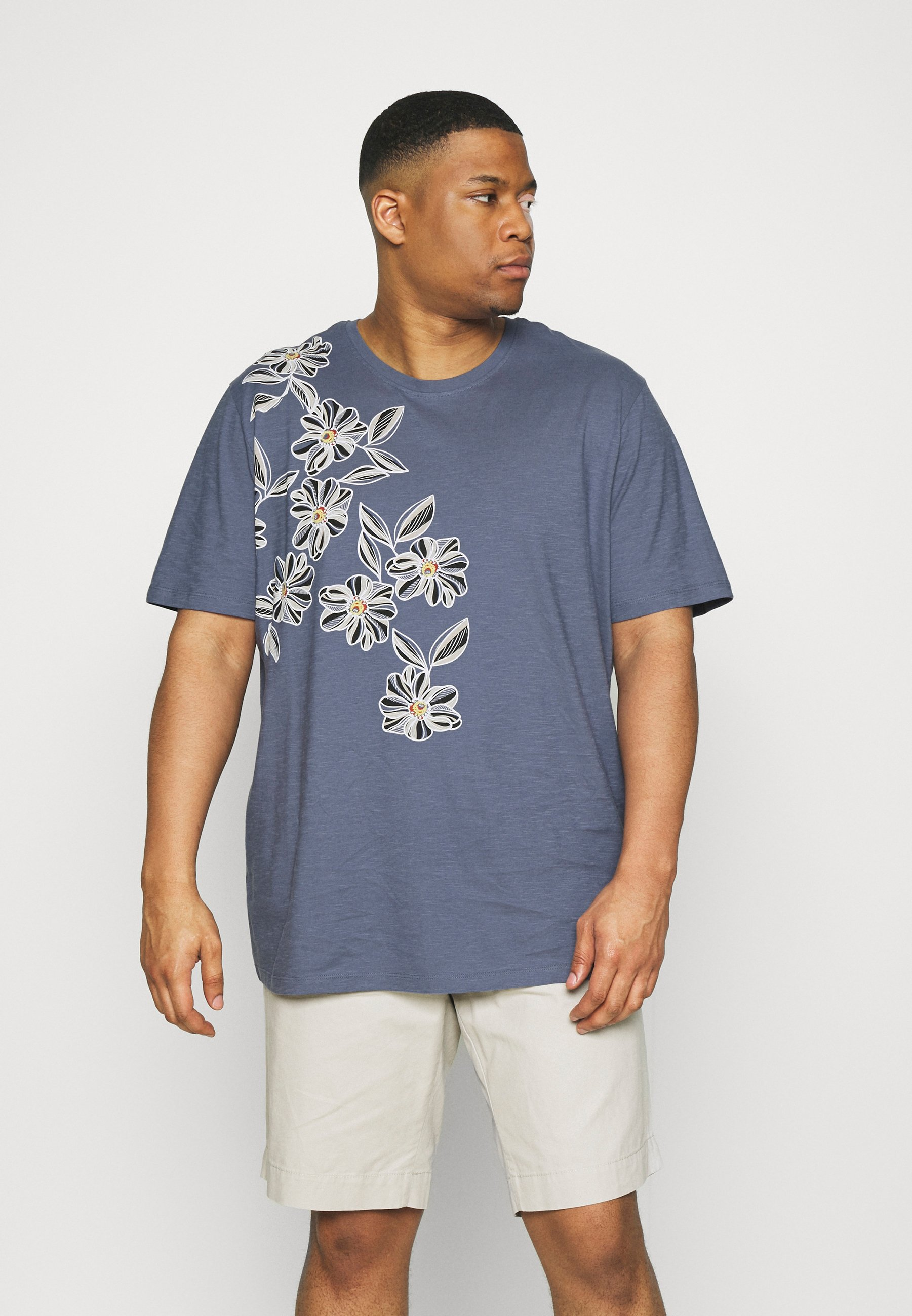 Homme JPRBLAGOA PLACEMENT TEE  - T-shirt imprimé