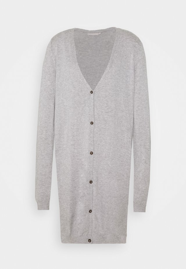 PCESERA LONG - Cardigan - light grey melange