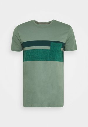 Print T-shirt - light khaki