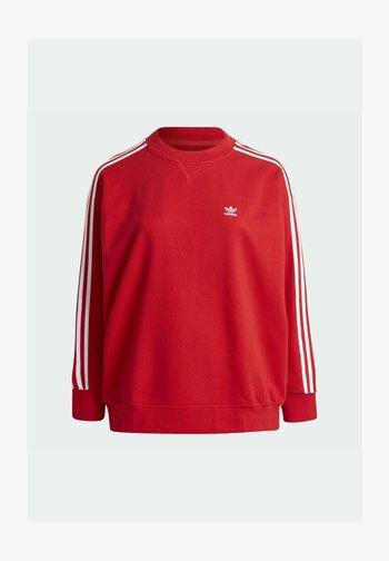 ADICOLOR ORIGINALS SLIM PULLOVER - Sweatshirt - red