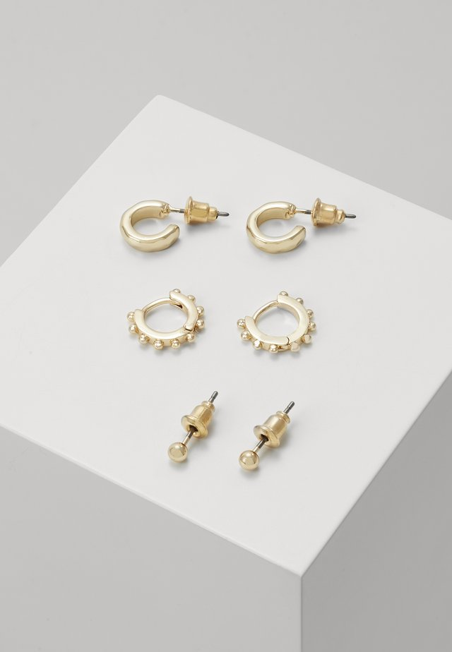 ESSENTIALS 3 PACK - Boucles d'oreilles - gold-coloured