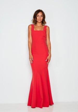 PREMIUM SQUARE NECK GOWN  COCKTAIL DRESS  PARTY DRESS - Cocktail dress / Party dress - red