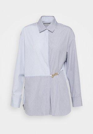 MADDLY - Button-down blouse - marine/ecru