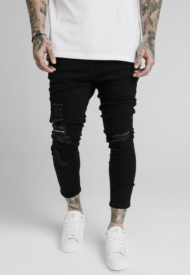 ULTRA DROP CROTCH - Skinny-Farkut - black