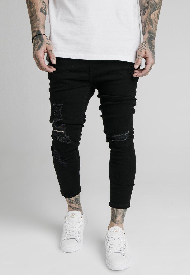 SIKSILK - ULTRA DROP CROTCH - Jeans Skinny Fit - black