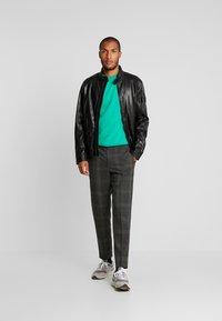 Strellson - FLAG - Leather jacket - black - 1